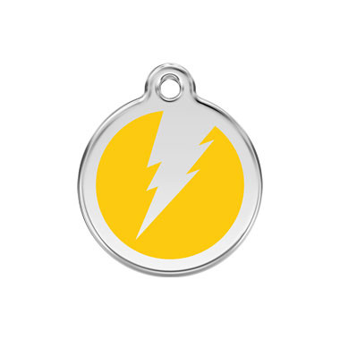 Flash Stainless Steel Enamel ID Tag