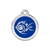Tribal Fish Stainless Steel Enamel ID Tag