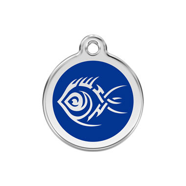 Tribal Fish Stainless Steel Enamel ID Tag