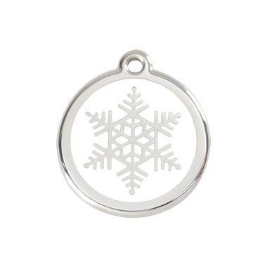 Snow Flake Stainless Steel Enamel ID Tag