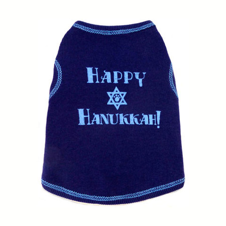 Happy Hanukkah Dog Tank