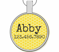 Honeycomb Silver Pet ID Tags