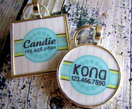 Beach House Silver Pet ID Tags
