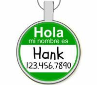 Hola Mi Nombre Es... Silver Pet ID Tags