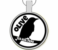 Raven Silver Pet ID Tags