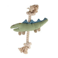 Natural Cotton Canvas Crocodile Rope Toy
