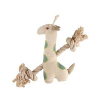 Natural Cotton Canvas Giraffe Rope Toy