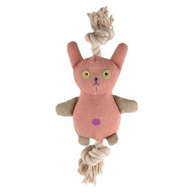 Natural Cotton Canvas Bunny Rope Toy