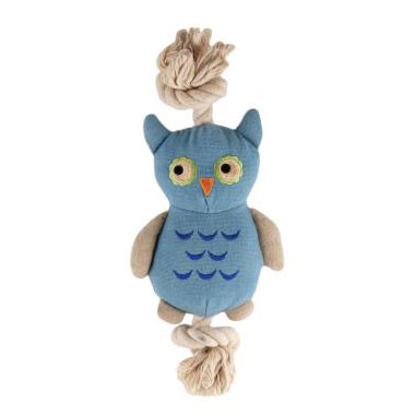 Natural Cotton Canvas Owl Rope Toy