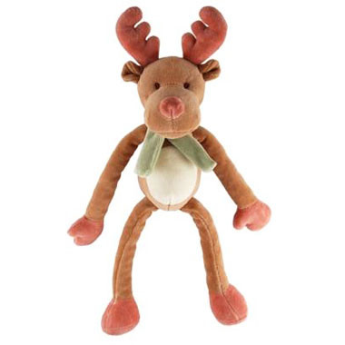 Holiday Moose Organic Dog Toy with Movable Limbs