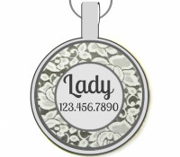 Wedding Party Silver Pet ID Tags