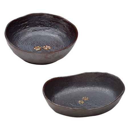 Urth Metal Black Stoneware Pet Bowls