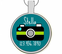 Cute Camera Silver Pet ID Tags
