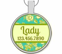 Mint Garden Silver Pet ID Tags