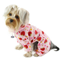 Yummy Strawberries Turtleneck Dog Pajamas