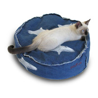 Denim Koosh Cat Bed