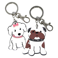 Love My Breed Acrylic Dog Keychains