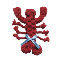 Louie Lobster Rope Dog Toy