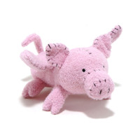 Flying Pig Woolie Dog Toy