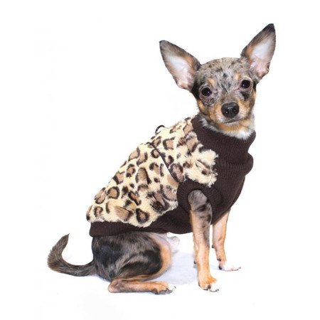 Brown Cheetah Mink Vest