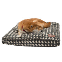 Flocked Pillow Dog Bed