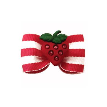 Strawberry Shortcake Dog Bow
