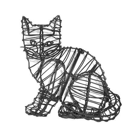 Sitting Kitten Cat Topiary