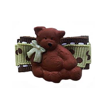 Chocolate Bear Barrette