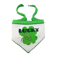 Lucky Shamrock Dog Scarf