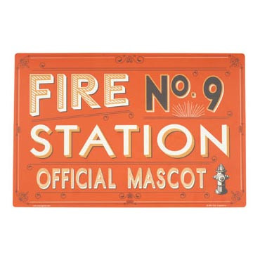 Fire Station No. 9 Dog Placemat