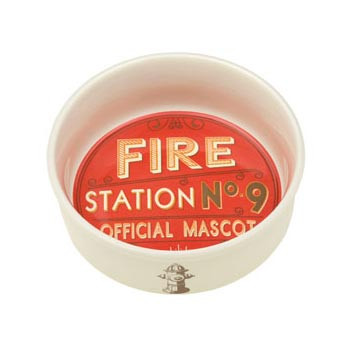 Fire Station No. 9 Pet Bowl