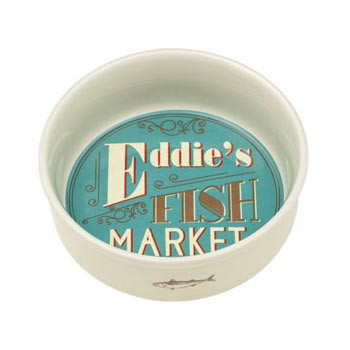 Eddie's Fish Market Pet Bowl