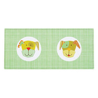 Comic Puppy Green & Brown Pet Placemat