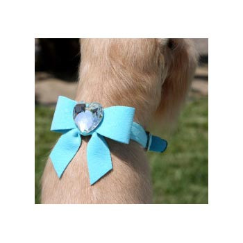 Susan Lanci Tail Bow Heart Collar