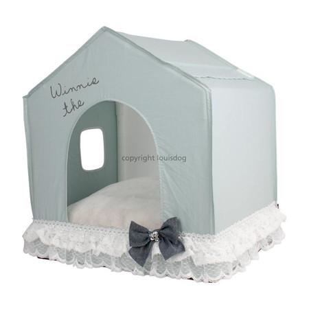 Louisdog Oh So White Peekaboo Dog House
