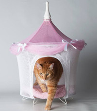 Pretty in Pink Tent Bed