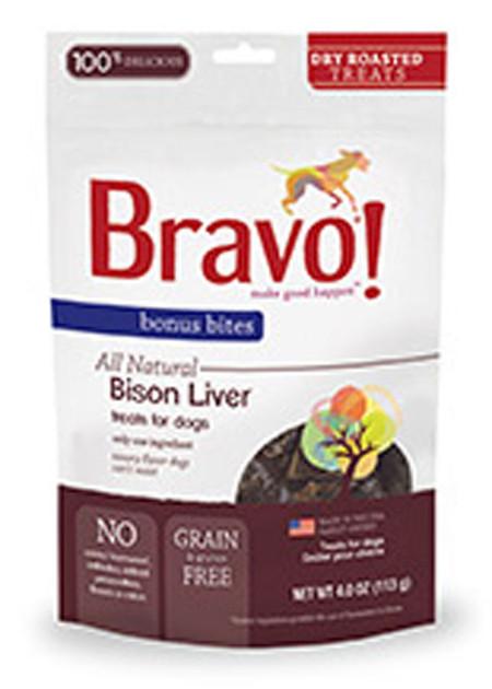 Bravo Bonus Bites Roasted Buffalo Liver Treats