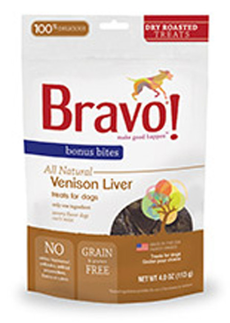 Bravo Bonus Bites Roasted Venison Liver Treats