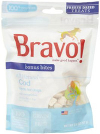 Bravo Bonus Bites Freeze Dried Cod Treats