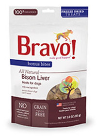 Bravo Bonus Bites Freeze Dried Buffalo Liver Treats