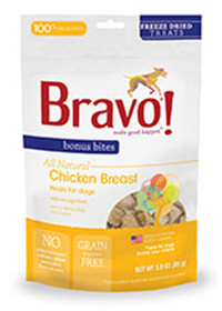 Bravo Bonus Bites Freeze Dried Chicken Breast Treats