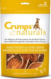 Crumps Naturals Sweet Potato and Liver Rawhide