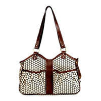 Petote Metro Couture Leather Trim Pet Carrier