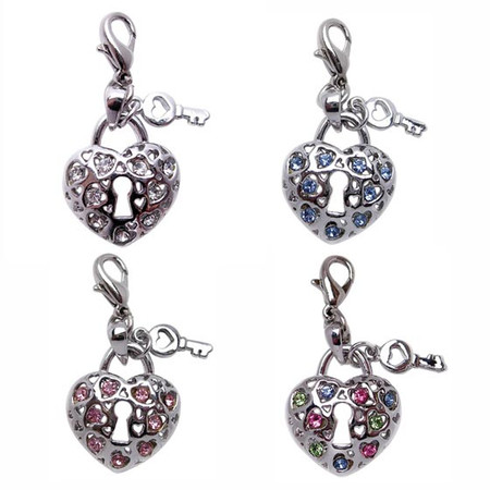 Key to My Heart Rhinestone Charms