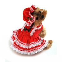 Miss Santa Baby Dog Costume