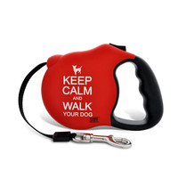 Avant Garde Retractable Dog Leash (Keep Calm Matte)