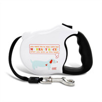 Avant Garde Retractable Dog Leash (My Heart Races)