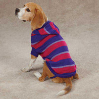 Striped Knit Dog Hoodies