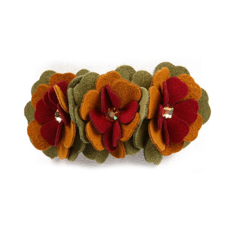 Susan Lanci Autumn Flowers Dog Collar