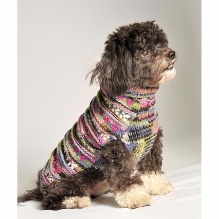 Purple Woodstock Dog Sweater